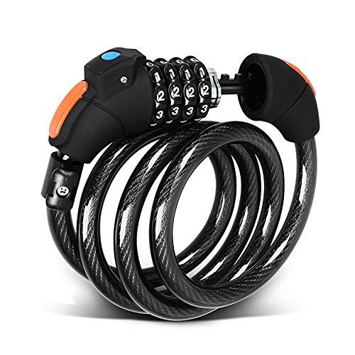 Llxxx Sperren-1,2 m LED-licht wachtwoordslot fietsslot mountainbike slot 4-cijferig wachtwoordslot