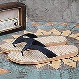 Infradito Uomo Flip-Flop di Lino Ciabatte Ciabatte da Spiaggia all'aperto casa Uomini,B,40/41