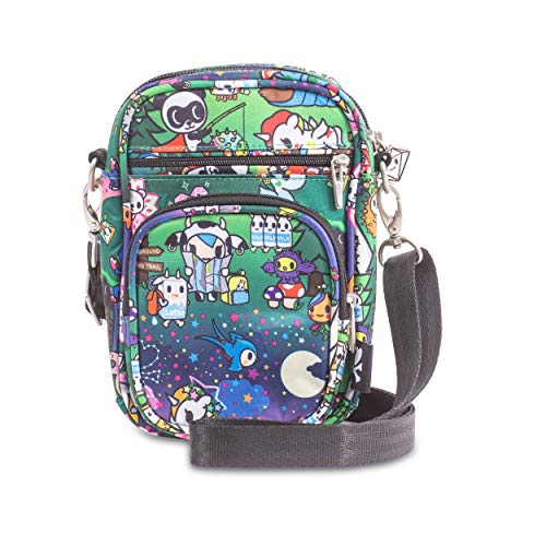 JuJuBe x Tokidoki Mini Helix Diaper Bag | Multi-Functional, Travel Friendly Diaper Bag Converts to Crossbody + Messenger Bag | Camp Toki