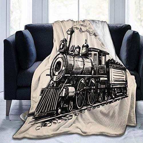 AEMAPE Manta de Tiro Tren de Vapor Tren de carbón Manta cálida Manta Suave para sofá de Oficina en casa