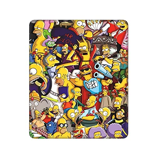 The Simpsons Mouse Pad Desktop Accessories Office Games Thickened Rubber Waterproof Non-Slip Mouse Pad Suitable for Laptops and Pc