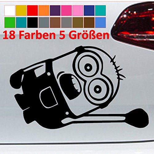 Generic Minion Hanging Auto Seite Car Tuning JDM VW Aufkleber Sticker 18 Farben 5 Größen