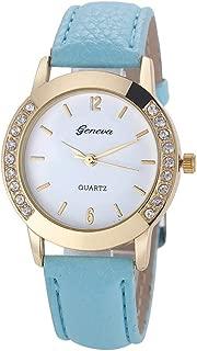 Balakie Womens Wrist Watch Leather Band Buckle Ladies Rhinestone Luxury Analog Quartz Watch-A26
