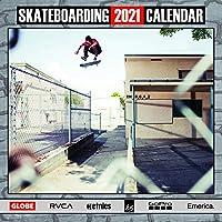 2021 スケートボード カレンダー (12インチ x 12インチ) 壁掛けカレンダー