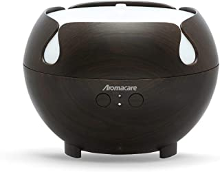 Aromacare Large Essential Oil Diffuser 600ML, Aromatherapy Cool Mist Humidifier,Quiet Aroma Diffuser, Dark Wood Grain,Rainbow LED Light, Last Overnight for Home & Spa