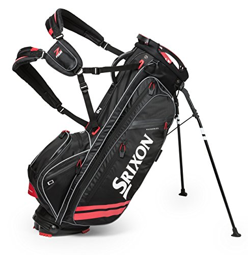 Srixon Z Four Stand Bag, Black/Red