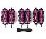 LIGICKY Haarbürsten set rundbürste Mit Abnehmbaren Rollen Rundes Styling Werkzeug, 6 Rollen 1 Griff, Klein Medium Groß