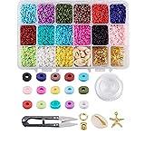 Cheriswelry 5700pcs Kits de cuentas de arcilla polimérica...