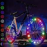 Luces LED Active Life para ruedas de bicis (set de 2 multicolor). Regalo de Pascua idóneo para niños. Top ventas navideñas 2020 para ejercitarse. Ideal para divertirse en cualquier ocasión.