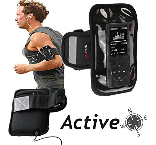 Navitech Black MP3/MP4 Sports Running Armband For the Sony NW-E394