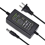 TOBWOLF DC 12V 3A Power Adapter, US Plug, 4.6FT Power Cord, 36 Watt AC 100-240V to DC 12Volt Transformer, Switching Power Supply for LED Strip Light, Camera, Wireless Router 2.1mm X 5.5mm