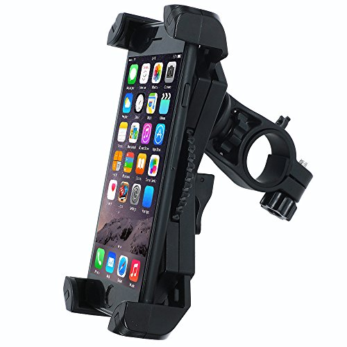 Bike Phone Mount Holder,Leepiya Universal Adjustable Bicycle Motorcycle Handlebar Phone Mount for iPhone X/8 Plus/8/7 Plus/7/6S,Galaxy S9/S9 plus,note 8/S8 plus/S8 and all 4.5-6 Inch Smartphones[Black