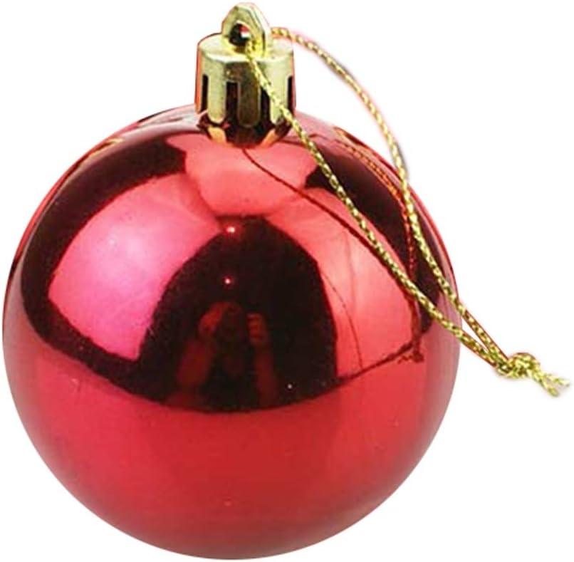 Size : 12cm Rot Kunststoff Bruchsicher Christbaumkugeln Dekoration Weihnachtsbaum Anh/änger Geschenk Weihnachtskugel Schmuck 12-50cm