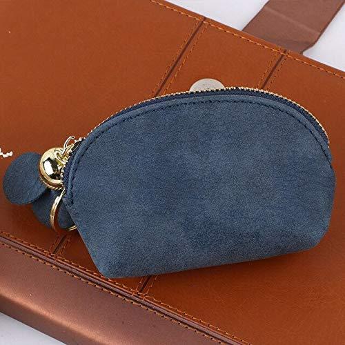 N / A Frische einfarbige niedliche Geldbörse Reißverschluss Blume Damen Mini Brieftasche Schlüsselanhänger Tasche Kartenhalter Clutch Tasche Geldsack Aufbewahrungstasche 10.8x7x3CM