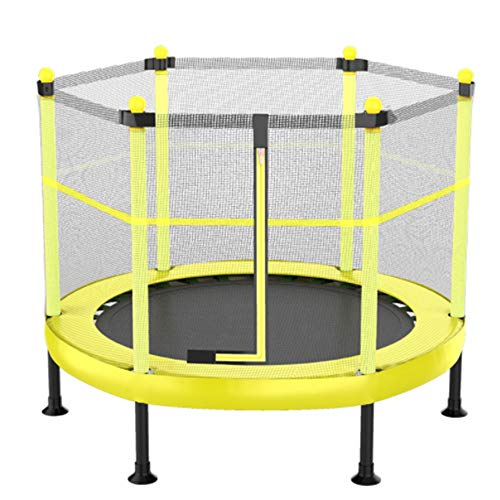 Inklapbare Ronde trampoline en Premium Safety Net for Kids, hoogwaardige professionele Gym Rebounder voor Huis, biedt plaats aan maximaal 200 Kg