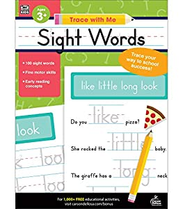 A sight words workbook to practice writing them