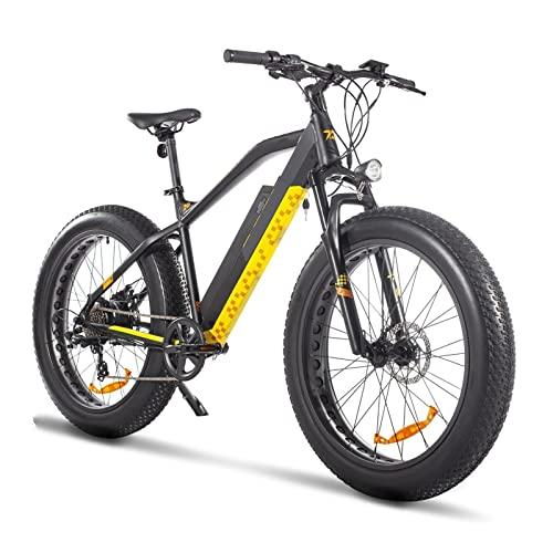 Bicicleta eléctrica para hombre para adultos 750W, 26' Bicicletas eléctricas de neumático grueso 48V 13Ah Batería de litio Bicicleta eléctrica de montaña Bicicleta de playa ( Color : Negro )