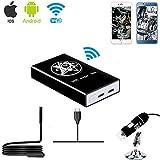 Jiusion Wireless WiFi Box Kompatibel mit iPhone iPad Android Telefon Tablet, Typ C/USB zu WiFi Konverter für USB Digital Mikroskop Endoskop Endoskop Mini Vergrößerungs Kamera