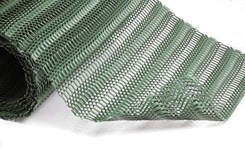 GrassProtecta® Standard: Rasengitter aus Kunststoff, befahrbar, grün, 1,2kg/m², 1x10m Rolle Bewehrungsgitter für Grünflächen, die als Rasenparkplatz, Stellfläche, Veranstaltungsboden etc. genutzt werden