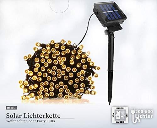 500 LED Solar Warmweiß Lichterkette Weihnachten Tannenbaum Außen Beleuchtung
