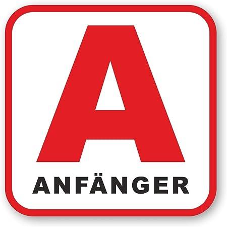 Anfänger Fahrzeug Magnet Rotes A Symbol I 15 X 15 Cm Eckig I Fahranfänger Kennzeichnung A Plakette International I Kfz 621 Auto