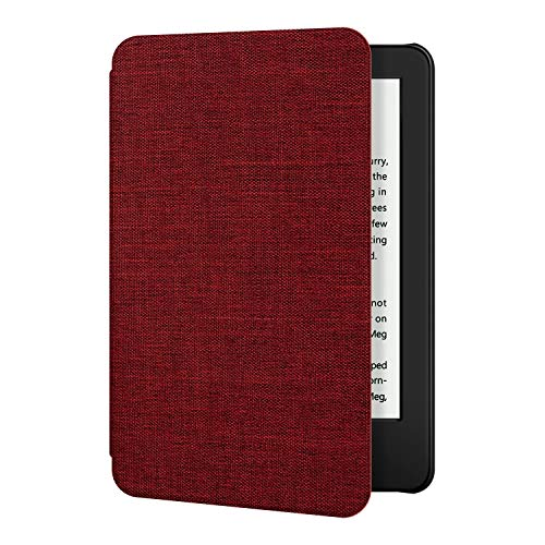 Ayotu Fabric Case for All-New Kindle 10th Gen 2019 Release Only - Thinnest&Lightest Smart Cover with Auto Wake/Sleep - Support Back Cover adsorption - (Not Fit Kindle Paperwhite 10th Gen 2018), Red