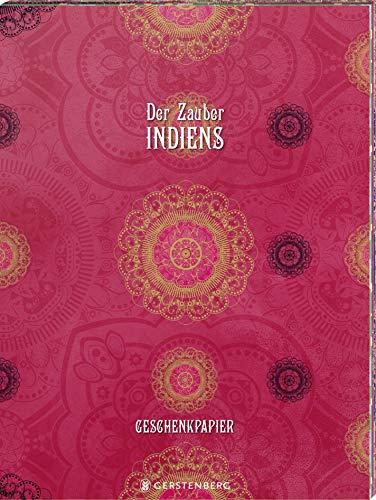 Der Zauber Indiens Geschenkpapier-Heft - Motiv Pinke Pracht: 2 x 5 Bögen
