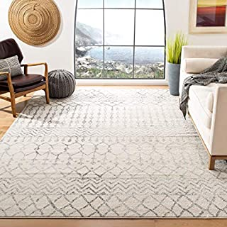 Safavieh Tulum Collection TUL270A Moroccan Boho Distressed Non-Shedding Stain Resistant Living Room Bedroom Area Rug, 10' x 13', Ivory / Grey (B083XPZYW3) | Amazon price tracker / tracking, Amazon price history charts, Amazon price watches, Amazon price drop alerts