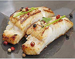 Wild Black Cod, 10 lbs Fresh Fish Frozen 8 oz. Portions Individually & Vacuum Packaged