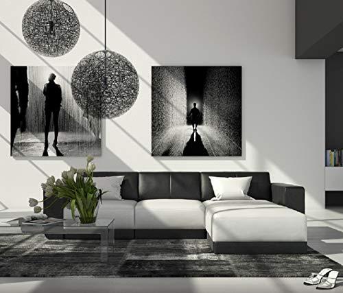 SAM Ecksofa Fadrina, weiß-schwarz, Couch, 260 x 200 cm Ottomane rechts, Polsterecke