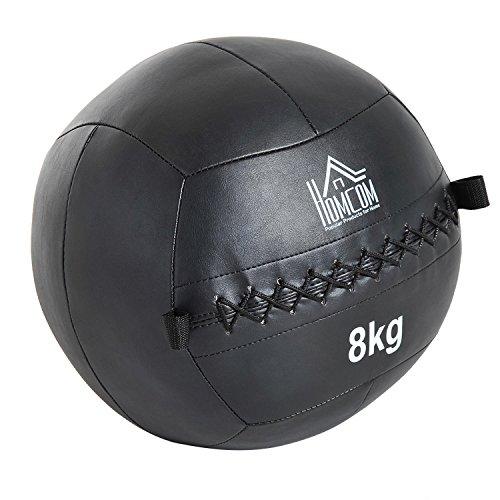 HOMCOM Balón Medicinal Crossfit 8Kg Asas Tipo Pelota