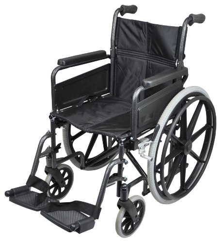 Aidapt VA167 Fauteuil roulant en aluminium Deluxe avec mains courantes