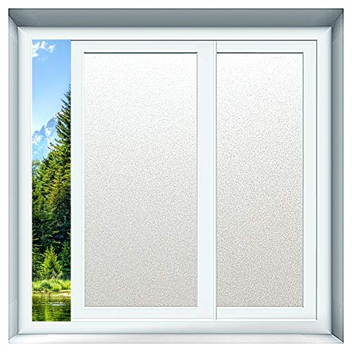 Window Films - X statische film melkglasfolie, ondoorzichtig zonwering raamfolie, zelfklevend, melkglas decoratiefolie vensterfolie voor bedrijven, woonkamer, slaapkamer, kantoor
