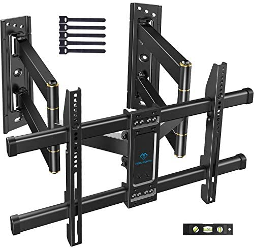Corner TV Wall Mount Full Motion Corner TV Bracket Fits 37 65 Inch LED LCD 4K Flat Curved Screen product image