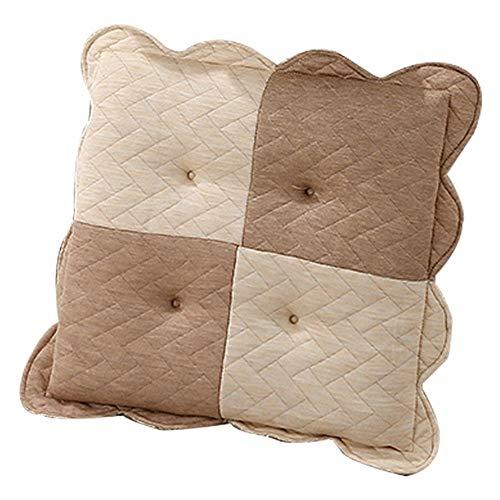 DFGH Garten-Kissen, Kissen weiches hohe elastische Baumwolle Schwamm Kissen Büro Studentenstuhlkissen Stuhl Kissen Heim (Color : Brown)