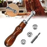 Marcador de Puntadas Weiyiroty Ruleta de Costura Estable y Duradera Papel Tapiz de Papel Acero Inoxidable para Cortar Tela