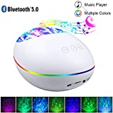 Bluetooth Ocean Wave Projector Lamp with 7 Color Mode/8 Built-in Music/4 Music Play Mode, Remote Control LED Projector Night Lights - Perfect Gift for Baby, Kids and Children