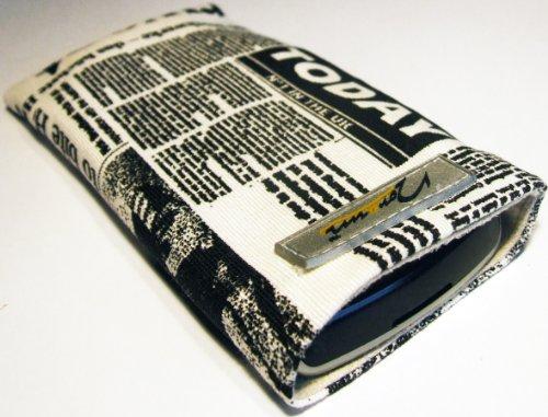 Norrun Handytasche / Handyhülle # Modell Nevelong # ersetzt die Handy-Tasche von Hersteller / Modell NEC N410i # maßgeschneidert # mit einseitig eingenähtem Strahlenschutz gegen Elektro-Smog # Mikrofasereinlage # Made in Germany