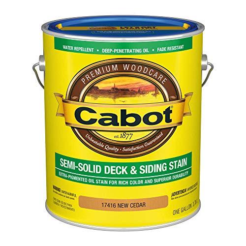 Cabot 140.0017416.007 Semi-Solid Deck & Siding Low VOC Stain, Gallon, New Cedar
