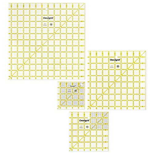Omnigrid R45125S 12-1/2-Inch Square Value Pack, 4-Count