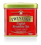 Twinings English Breakfast Tea Can 100g, té negro · Té negro completo, redondo y fuerte de los mejores jardines de té en Sri Lanka e India. Té negro, paquete de 6 (6 x 100 g)