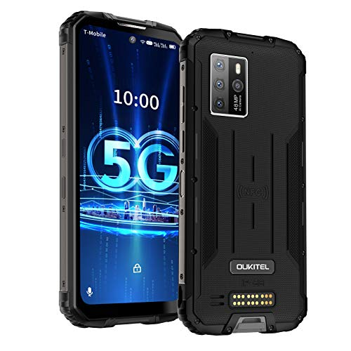 5G Outdoor Handy OUKITEL WP10 (2021) 6,67 Zoll FHD+ Wasserdicht 8GB+128GB Octa-Core 8000mAH NFC Android 10 48MP Kamera Dual SIM IP68/69 Staubdicht Stoßfest simlockfreie handys