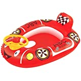 水遊び 子供用レーシングカー レッド 71×56cm 42192 浮き輪 浮き袋