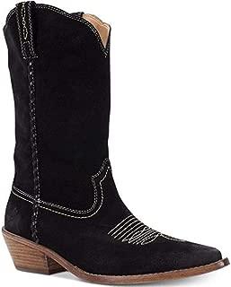 Patricia Nash's Womens Stylish Bergamo Cowboy Black Suede Boots Size 10 M