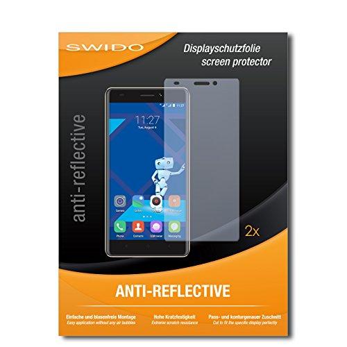 SWIDO Schutzfolie für Haier Phone L53 [2 Stück] Anti-Reflex MATT Entspiegelnd, Hoher Festigkeitgrad, Schutz vor Kratzer/Bildschirmschutz, Bildschirmschutzfolie, Panzerglas-Folie