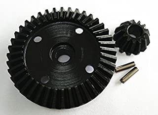 Raidenracing Steel Diff Ring Pinion Bevel Gear 40T/13T for HPI Bullet ST MT SAVAGE XS WR8 Flux