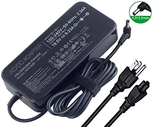 szhyon 19.5V 9.23A 180W Laptop Charger ADP-180MB F FA180PM111 AC Power Adapter compatible with Asus ROG G75 G75VW G75VX GL502VT G750JW G750JM G750JX G751JL G751JM G752VL G-Series Gaming Laptops
