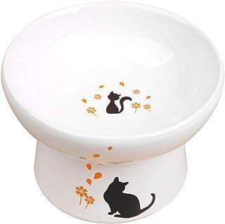 Alien Pet ペットボウル 猫食器 脚付食器 陶器 フードボウル 水飲みボウル 猫用(食器)