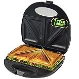 IBELL SM201 750-Watt Sandwich Maker With Non-stick Coated Plates, Black