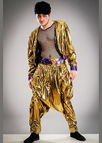 Herren 80er Jahre MC Hammer Style Rapper Kostüm